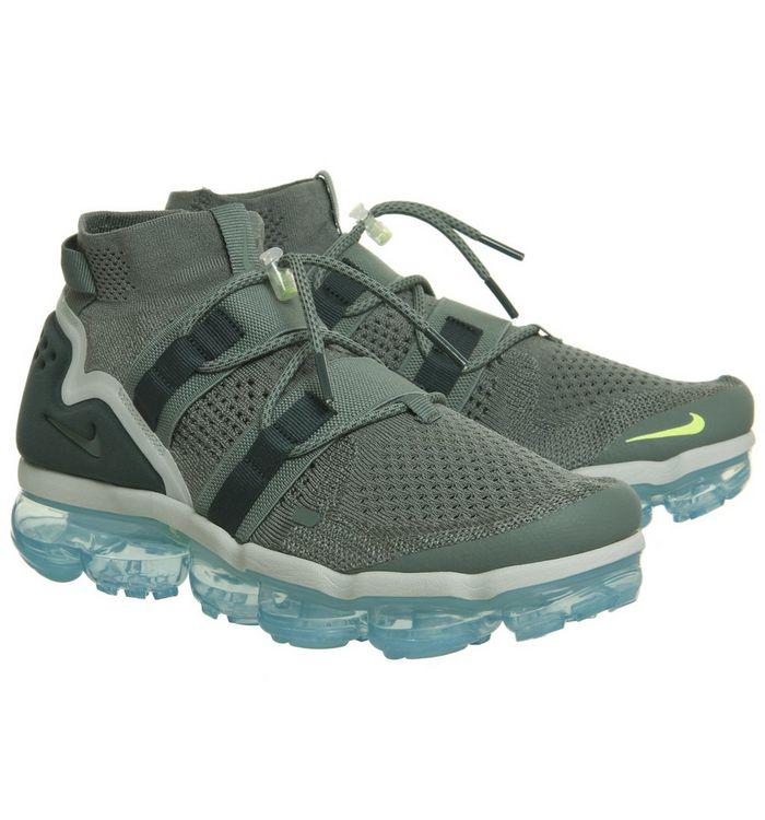 e15ac9dfac4da Nike Vapormax Air Vapormax Flyknit Utility Trainers Clay Green Faded ...