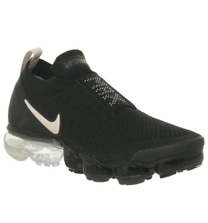 55849806fd ... Nike Vapormax, Air Vapormax Flyknit Moc 2, Black Light Cream White  Thunder Grey F ...