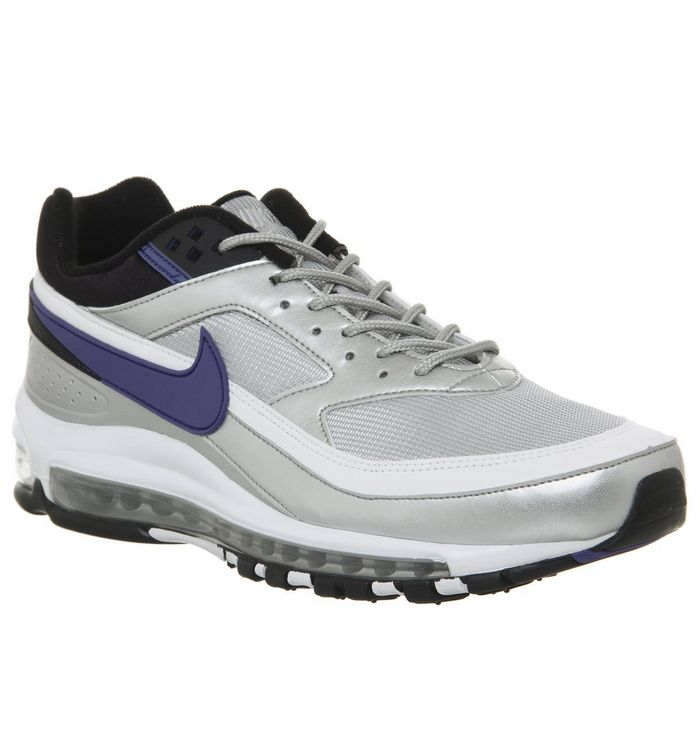 cheaper f62a7 3b23f ... Nike, Air Max 97 BW Trainers, Metallic Silver Persian Violet Black ...