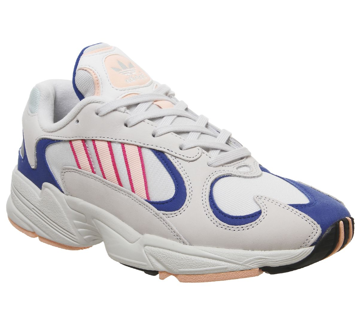 3ab1aaa4ba8 adidas Yung 1 Trainers Crystal White Clear Orange Collegiate Royal ...