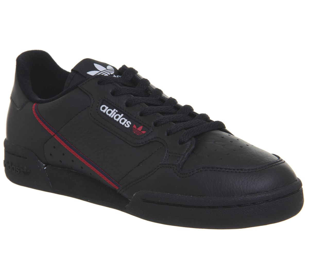 brand new 6cdc0 9e31d adidas Continental 80s Trainers Core Black Scarlet Collegiate Navy ...