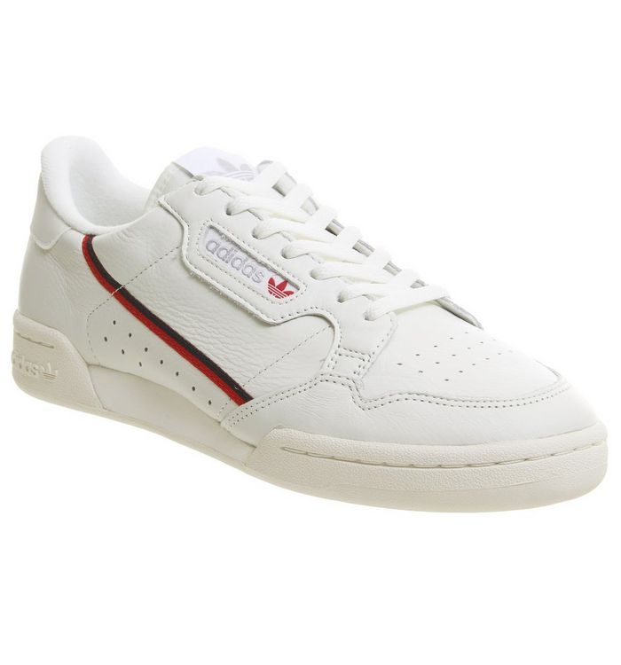 cheaper fddfb 95611 Continental 80s Trainers  adidas, Continental 80s Trainers, White Tint Off  White Scarlet ...