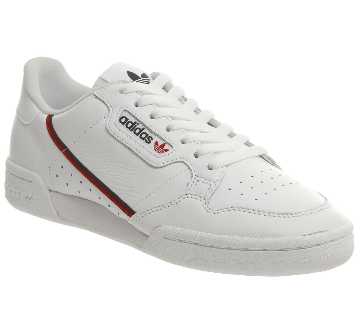 free shipping ec1f1 84675 adidas Continental 80s Trainers White Scarlett Collegiate Navy - His ...