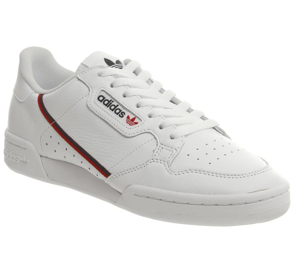 Rizado rodillo salario  adidas Continental 80s Trainers White Scarlett Collegiate Navy - His  trainers