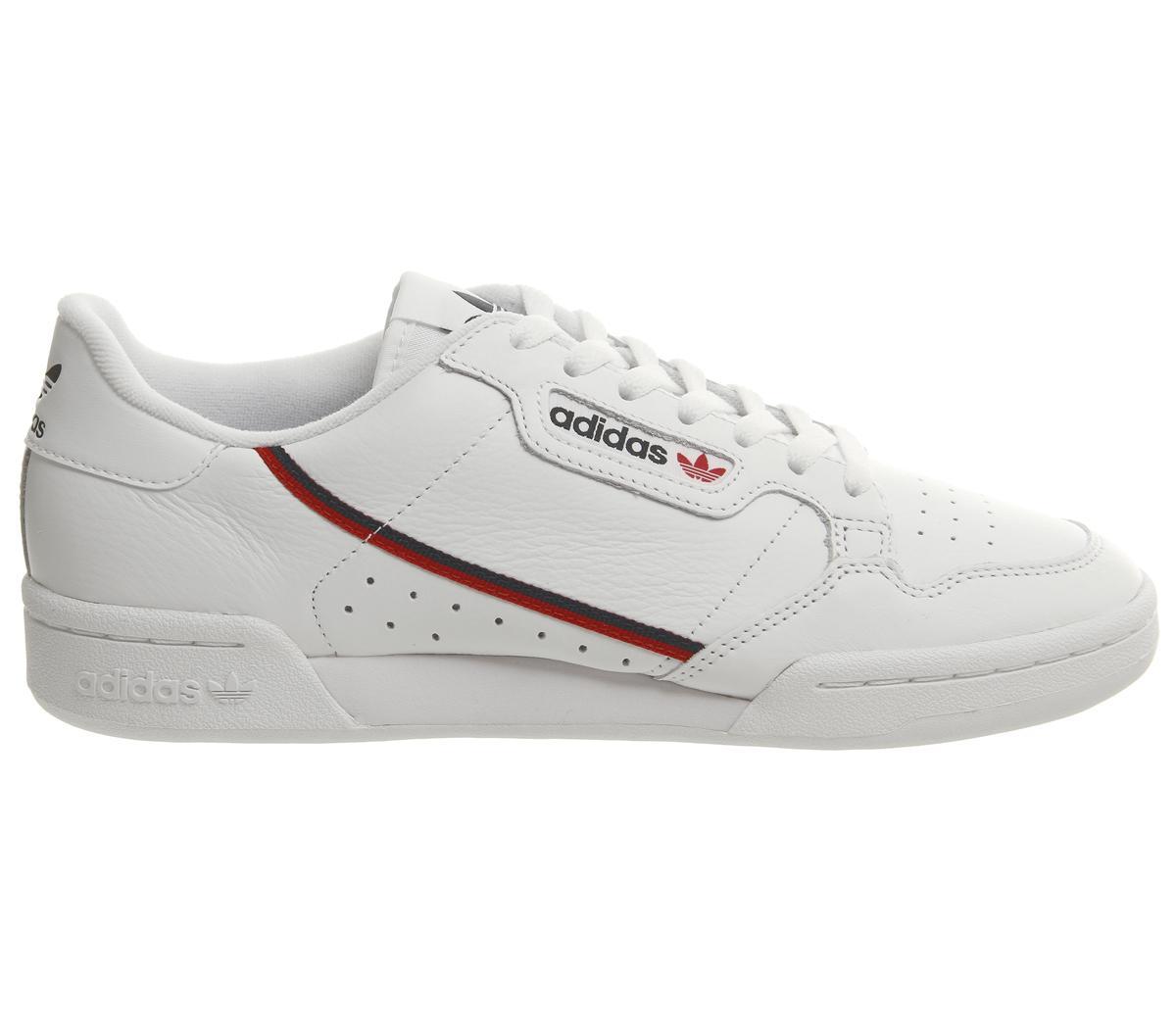 adidas Continental 80s Trainers White Scarlett Collegiate