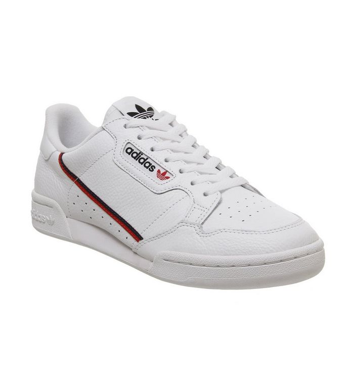 Image of adidas 80's Continental WHITE WHITE SCARLET NAVY
