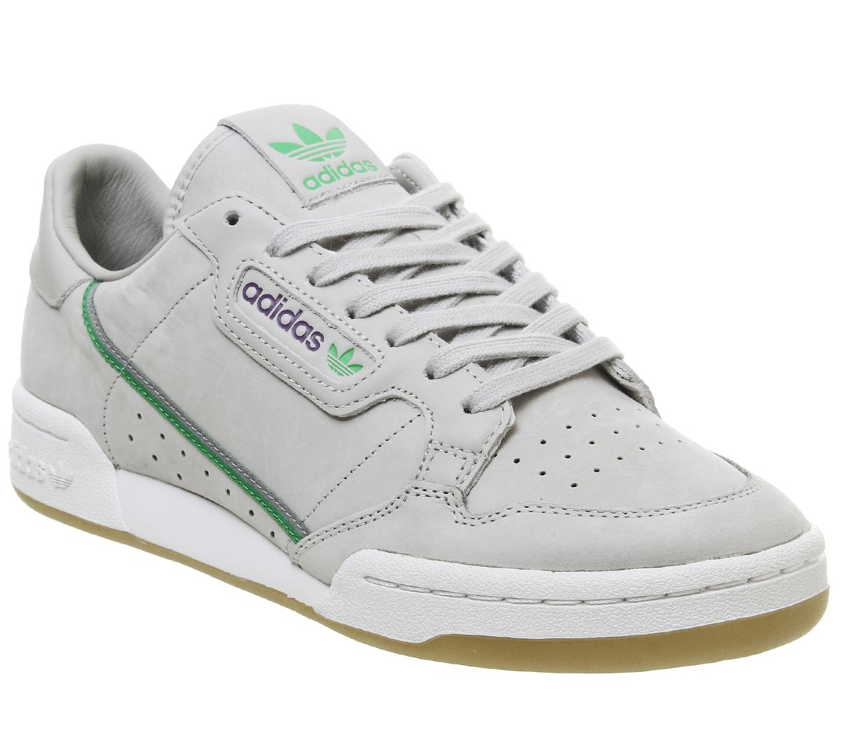 fbabcc94 adidas Continental 80s Trainers Grey Green Purple Gum Tfl - His trainers