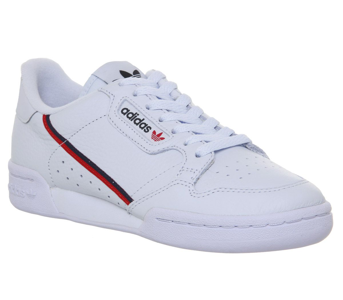 pretty nice c39b6 554c4 adidas Continental 80s Trainers Aero Blue Scarlet Collegiate Navy ...