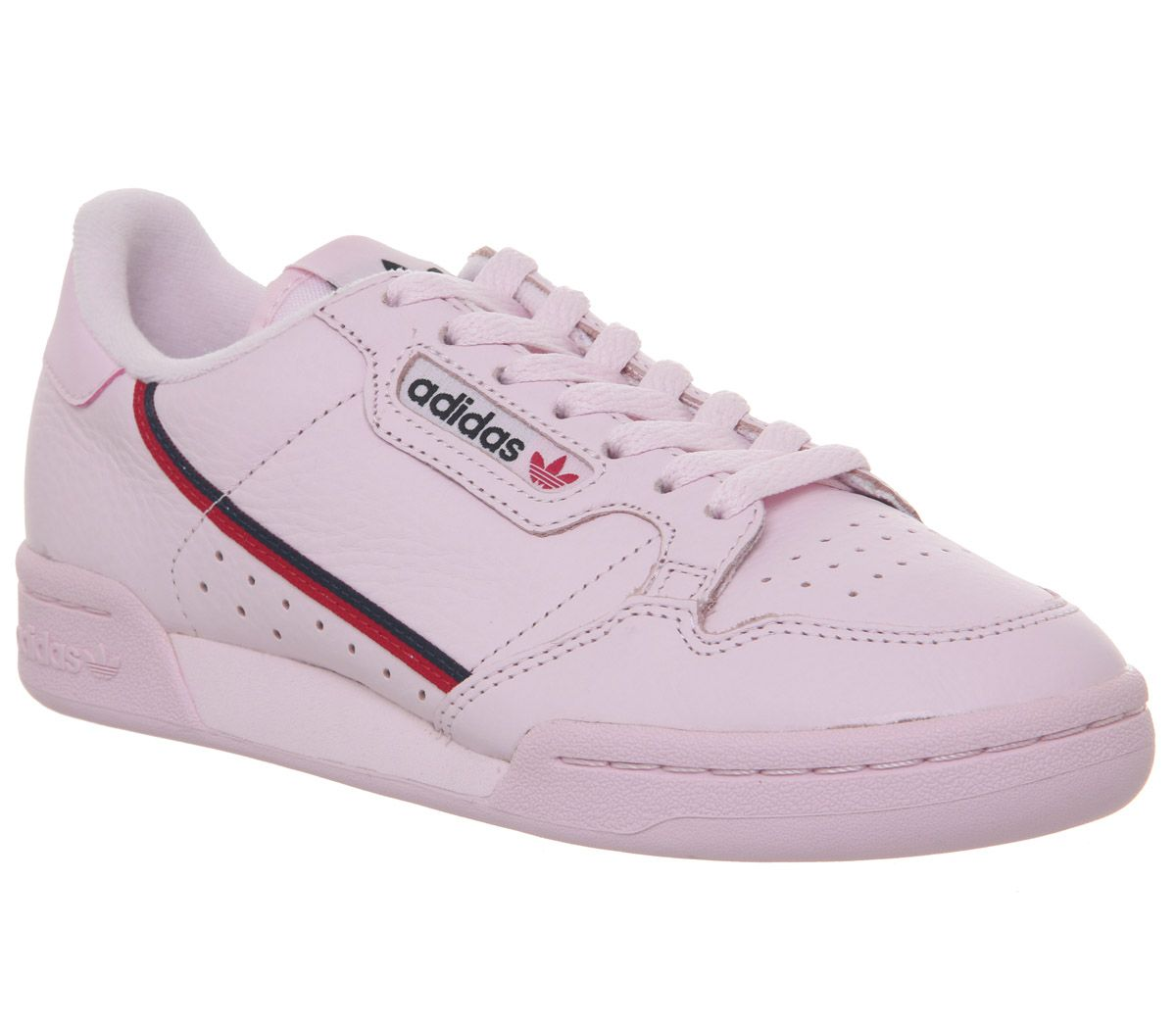 best website 1f54d 6c599 adidas Continental 80s Trainers Clear Pink Scarlet Collegiate Navy ...