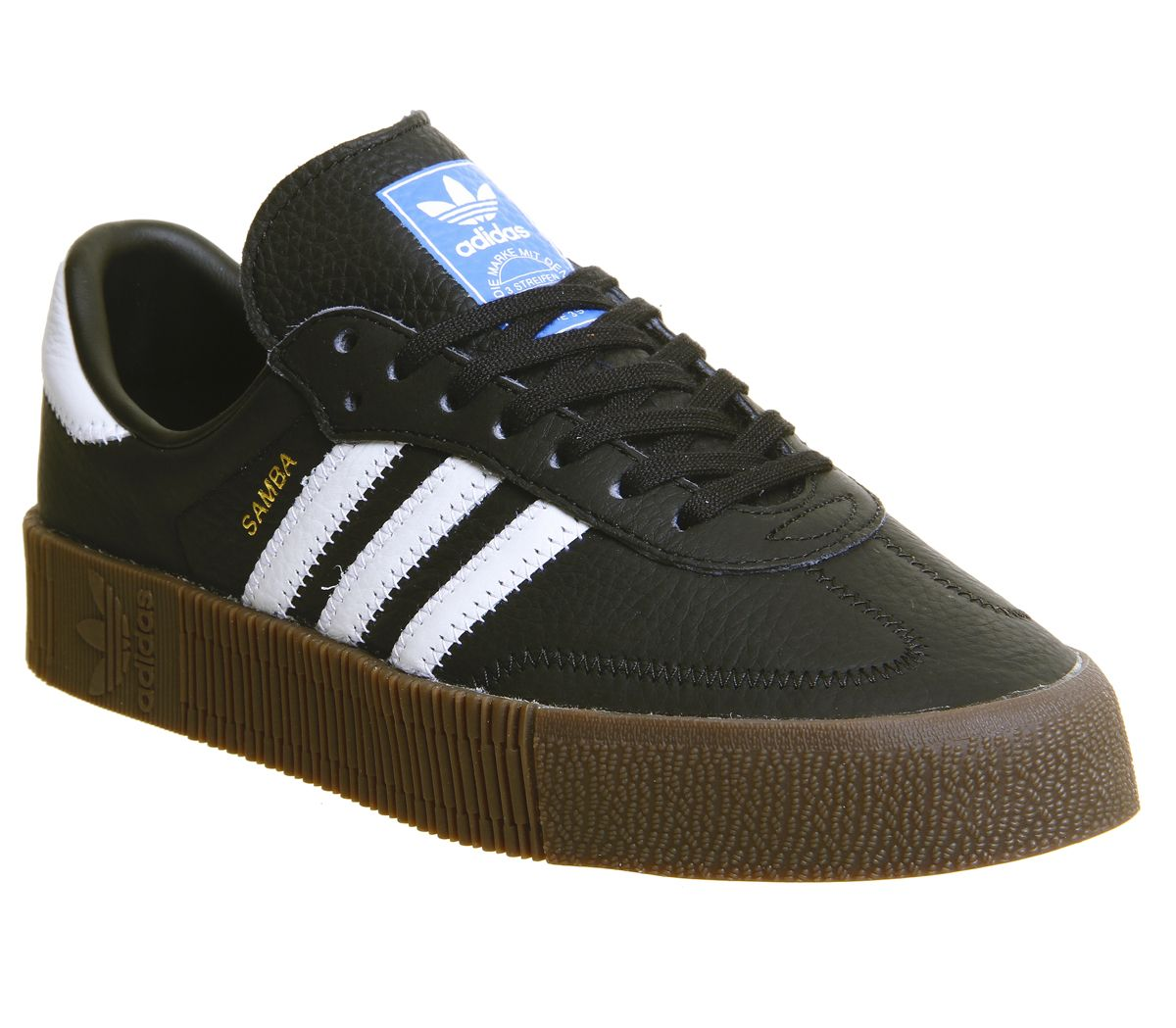 a044efd7f743 adidas Samba Rose Trainers Core Black White Gum - Hers trainers