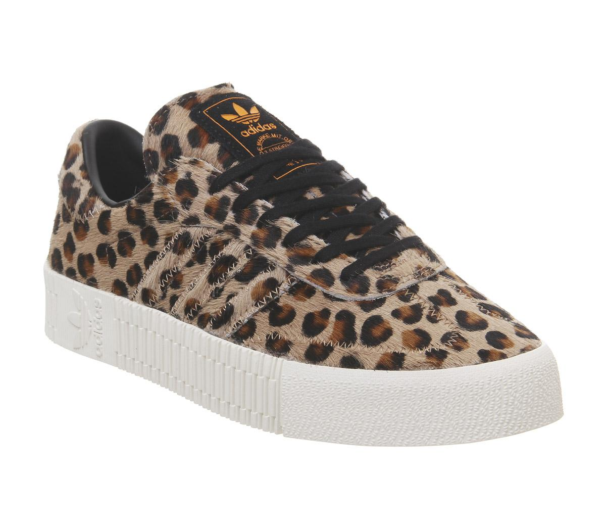 adidas Samba Rose Trainers Leopard Black Off White - Sneaker damen