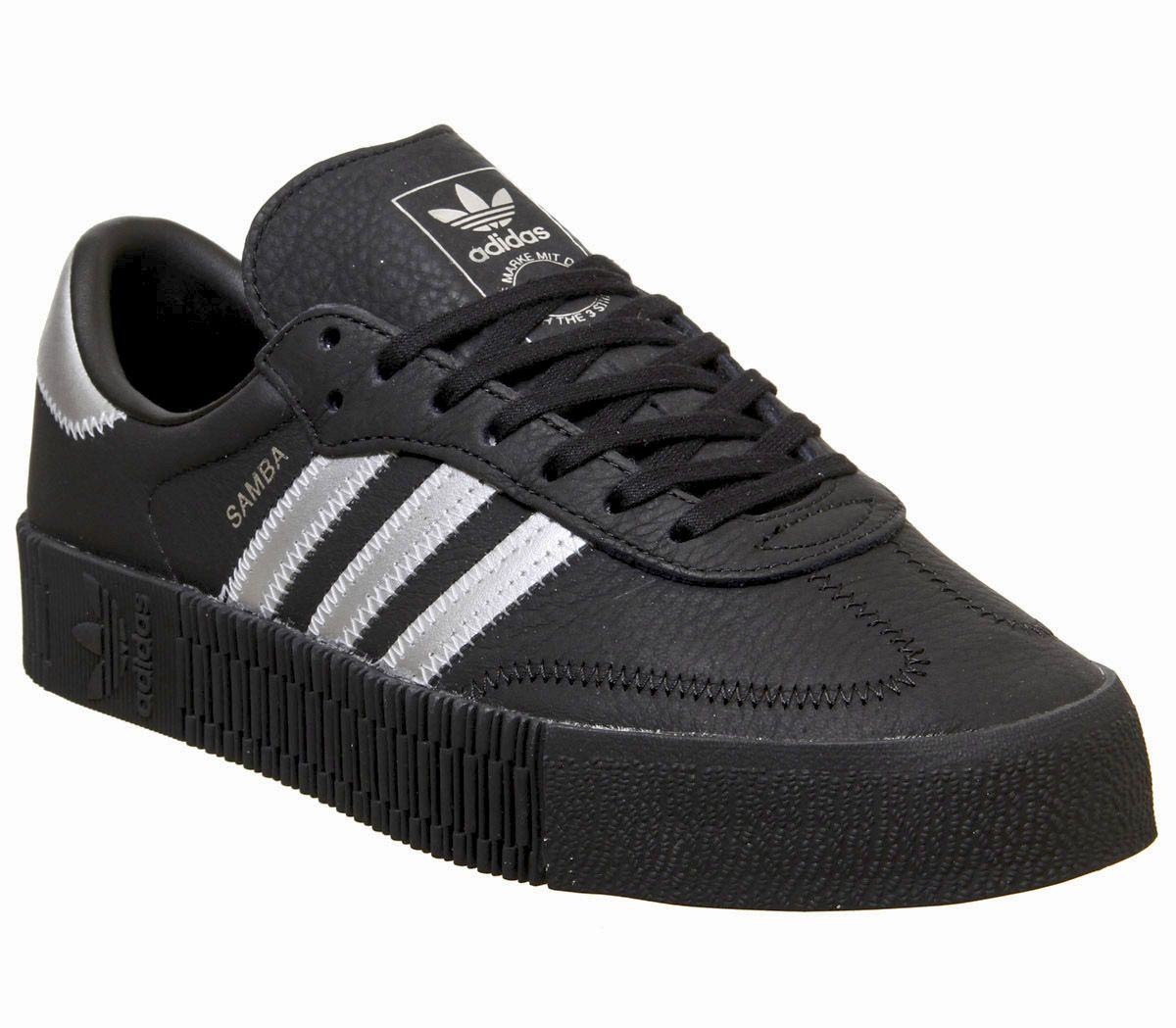 c5d75795 adidas Samba Rose Trainers Core Black Silver Metallic Core Black ...