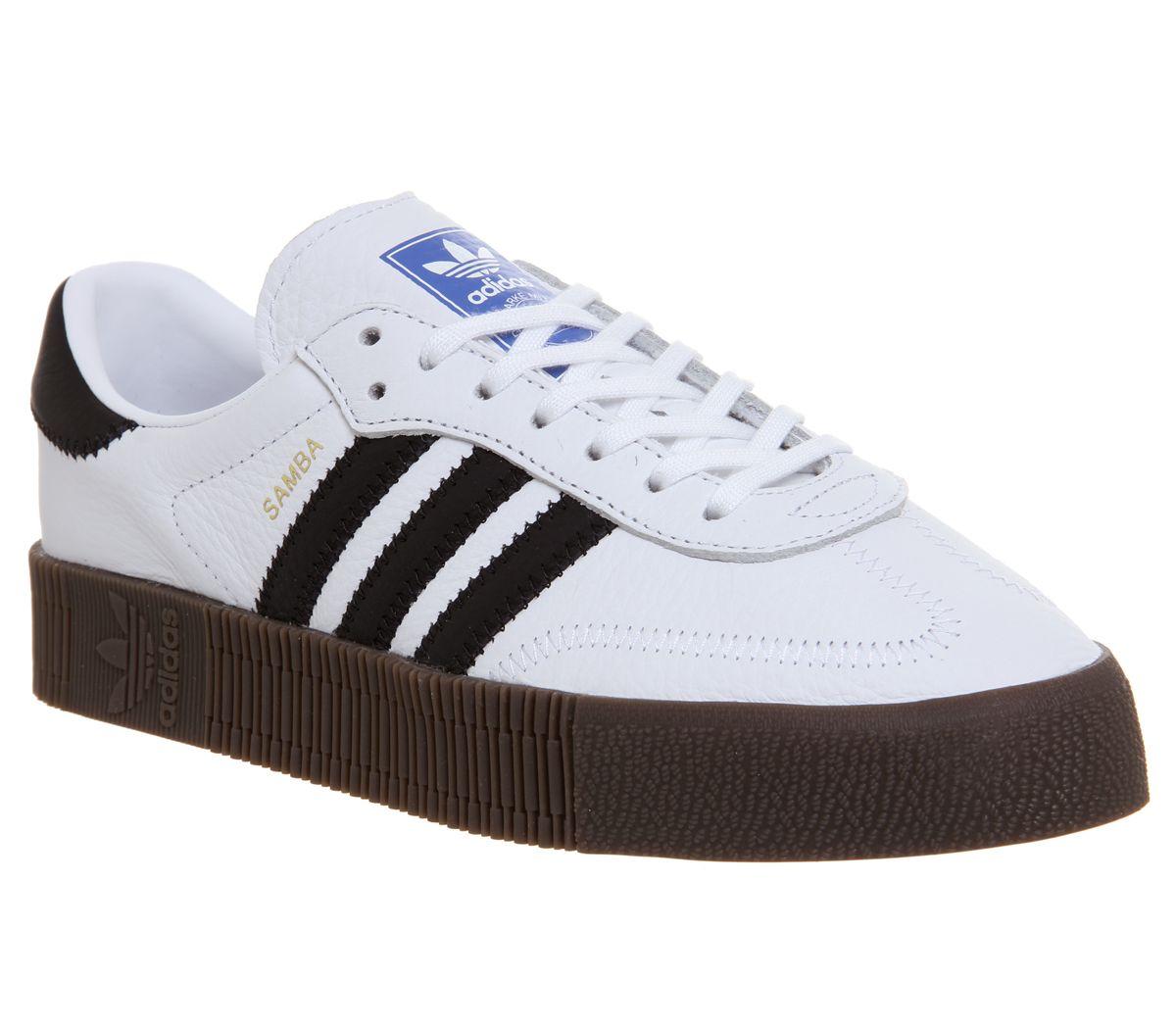 88bfbb56fe7 adidas Samba Rose Trainers White Core Black Gum - Hers trainers