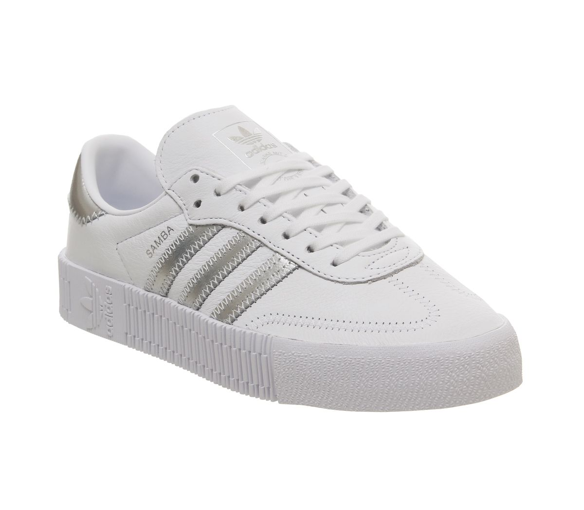 lowest price 256cd 750f0 adidas Samba Rose Trainers White Silver Metallic - Hers trainers