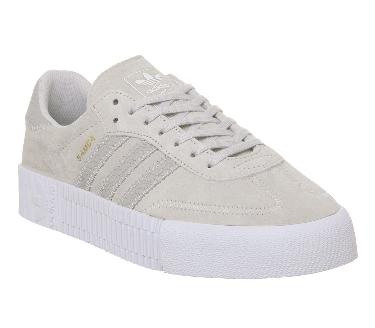 Adidas Samba Rose Trainers Grey One White Hers Trainers
