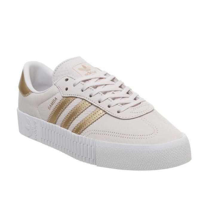 c2fa170d adidas Samba Rose Trainers White Silver Metallic - Hers trainers