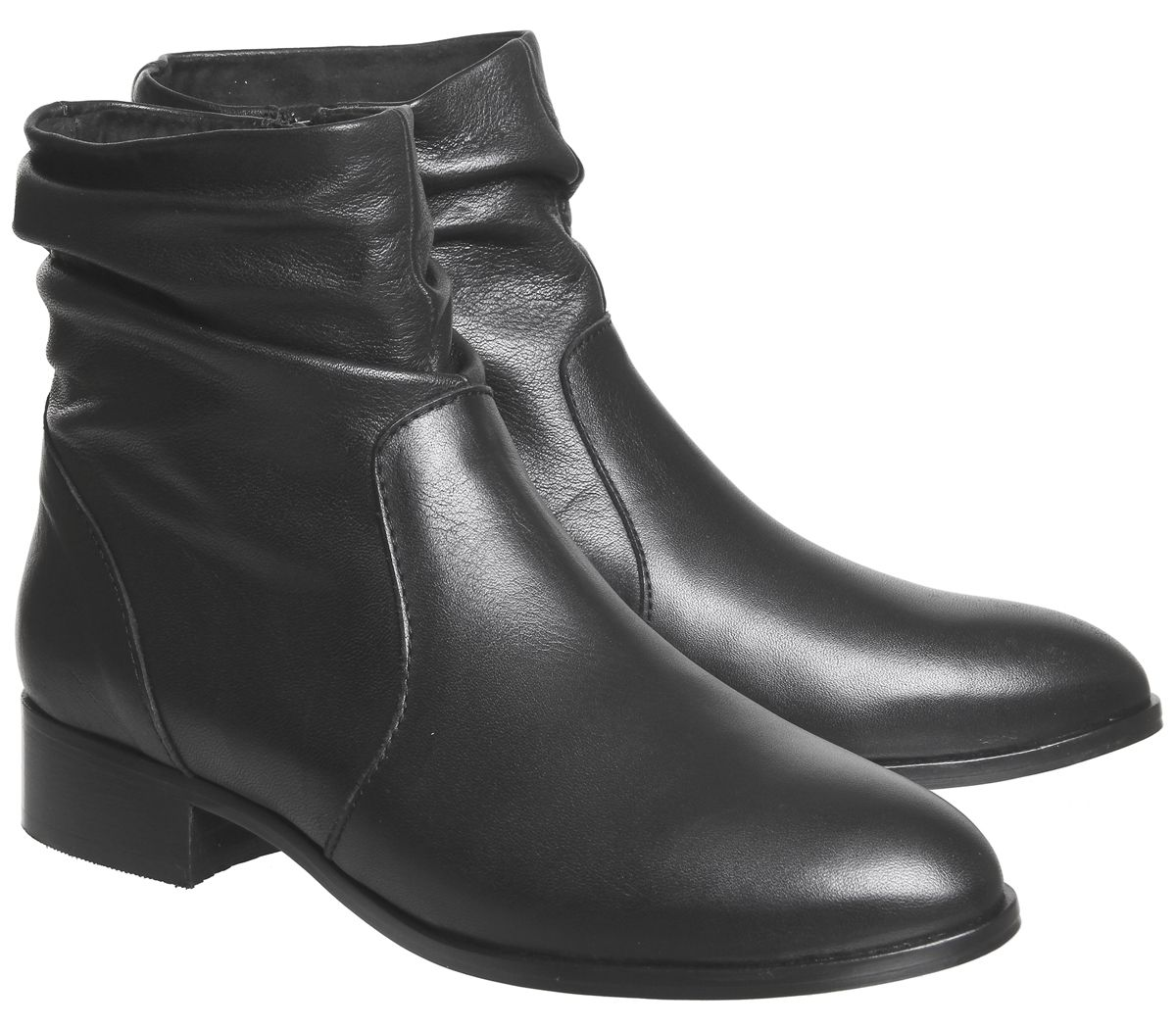 711ac7683ea Andes- Pre Ruched Flat Ankle Boot