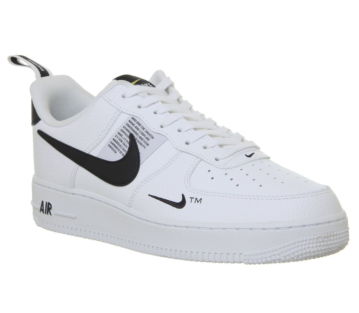 7432024bcb Nike Air Force 1 Utility Trainers White White Black Tour Yellow ...