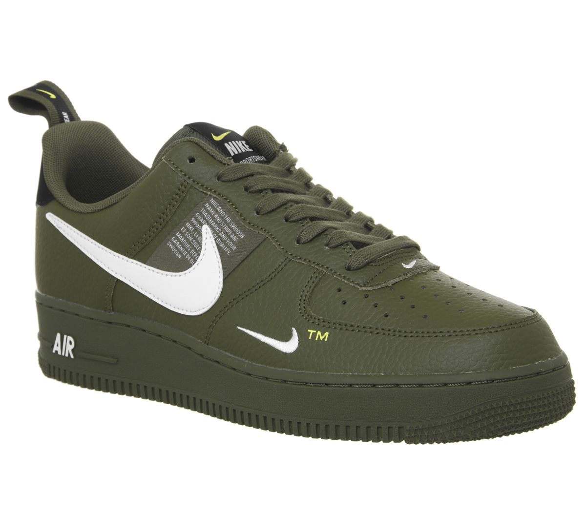 wholesale dealer 2f748 b46e5 Nike Air Force 1 Utility Trainers Olive Canvas White Black Tour ...