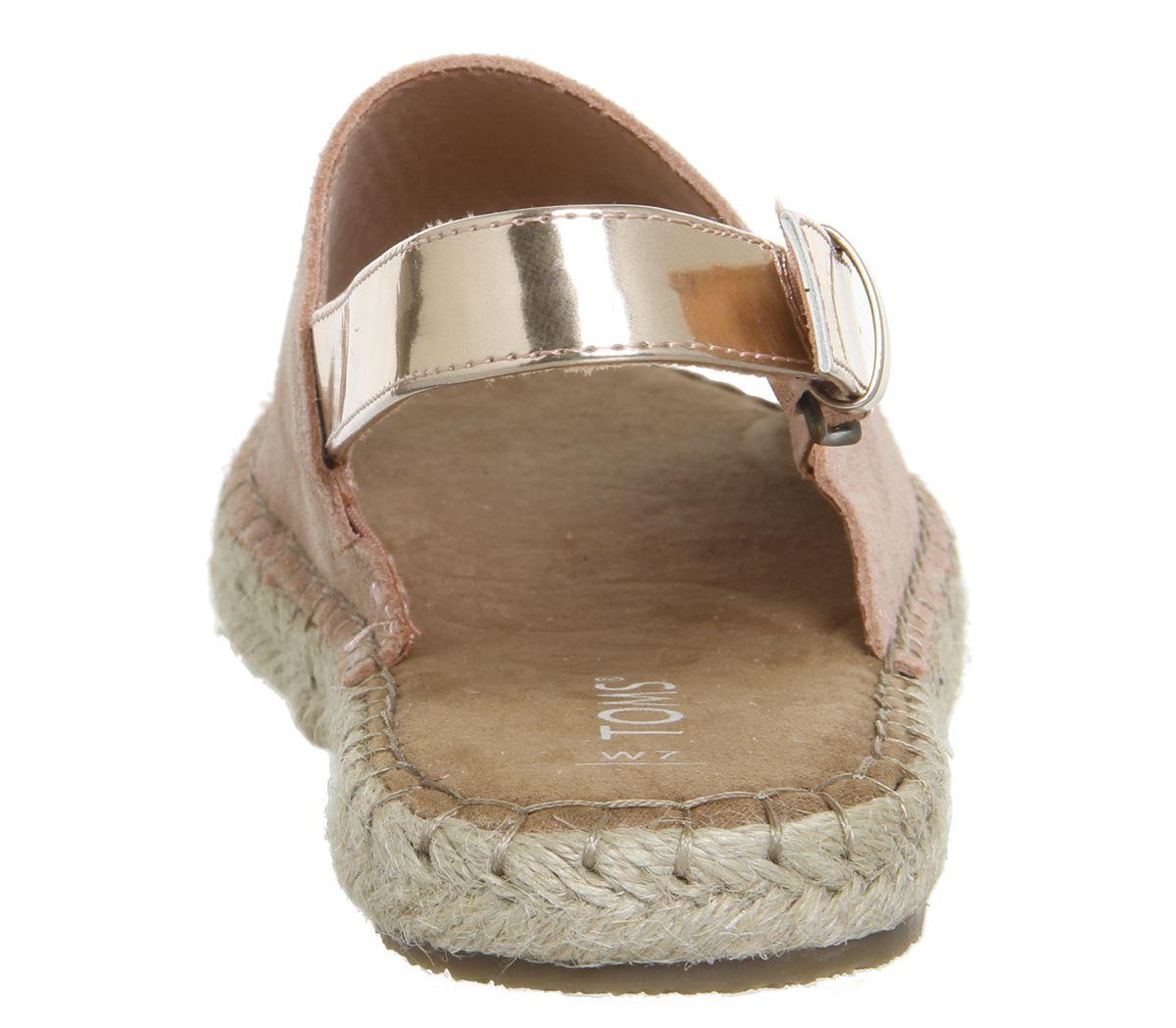 cbb79c0837d0 Toms Clara Sandals Bloom Suede Rose Gold Specchio - Sandals