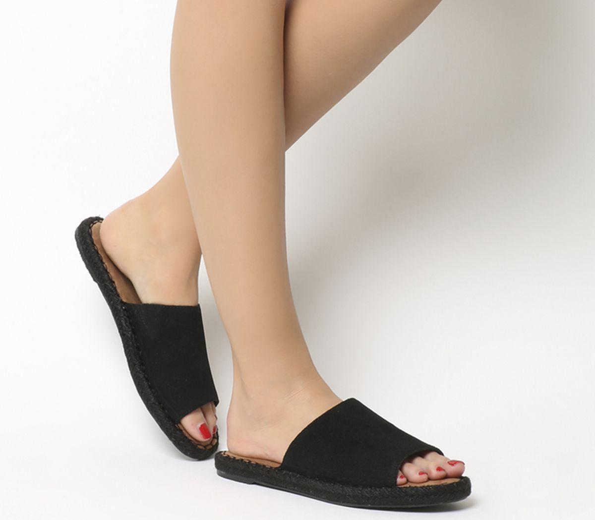c714eacc72f Toms Clarita Sandals Black Suede - Sandals