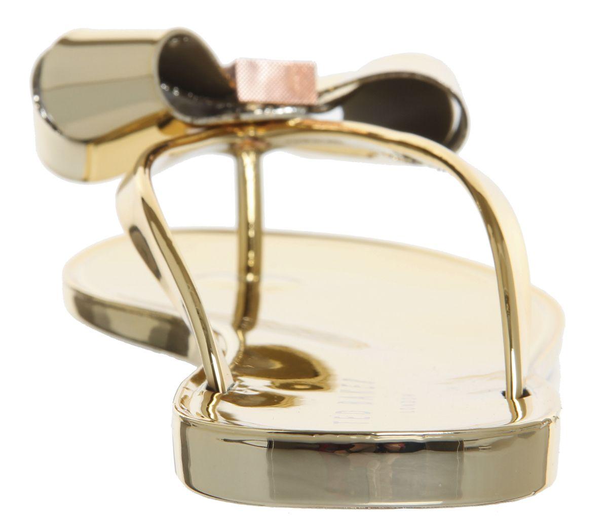 98fc34973 Ted Baker Glamari Flip Flop Gold - Sandals