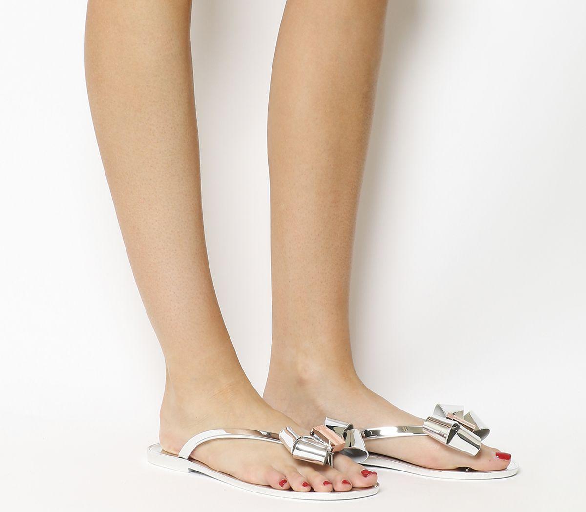 dd356efea Ted Baker Glamari Flip Flops Silver - Sandals