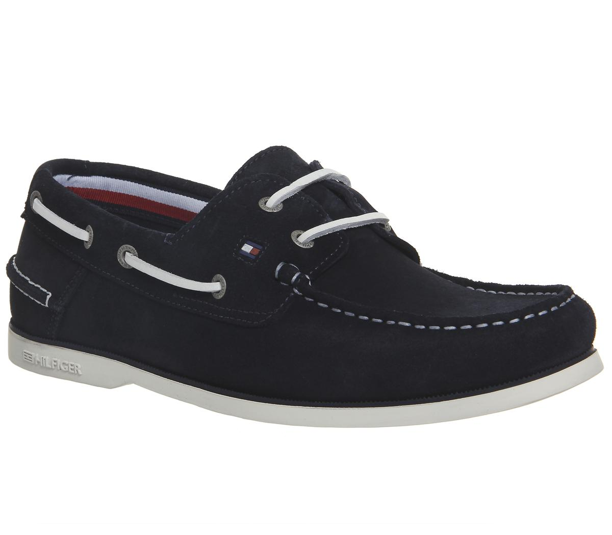 d0a1cc8b9bd7 Tommy Hilfiger Classic Boatshoes Midnight Suede - Boat Shoes