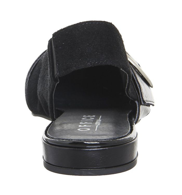 Office Fantastic Point Flats Black Leather - Flats - photo#43