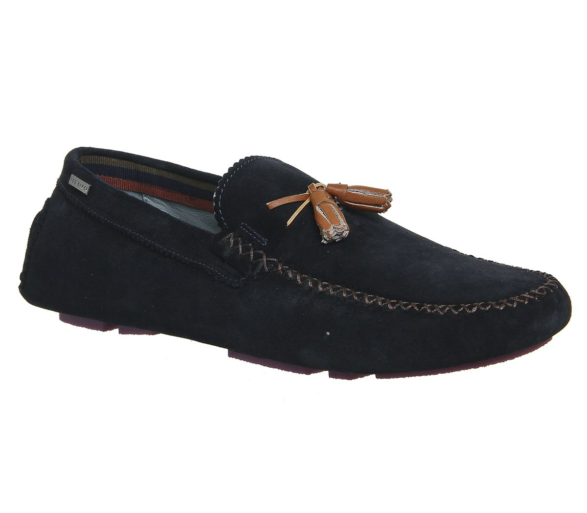 4cbb7953509 Ted Baker Urbonns Driver Dark Blue Suede - Casual