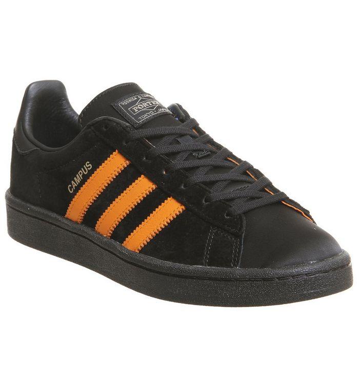ef81007b3b41 Adidas Statement Campus X Porter Trainers Black Orange Blue - Hers ...