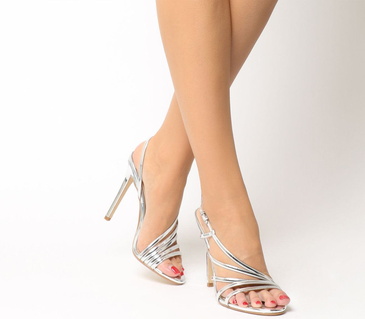 c7f0e7237f Office Hamsa Strappy Heels Silver - High Heels
