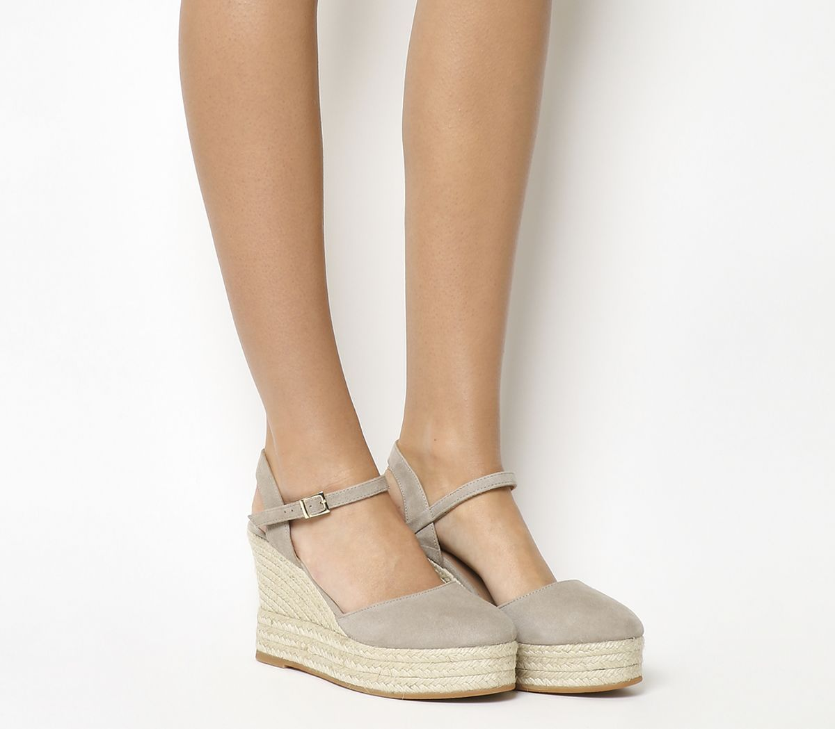 43515263bc44 Gaimo for OFFICE Hero Platform Wedges Sand Suede - Wedges