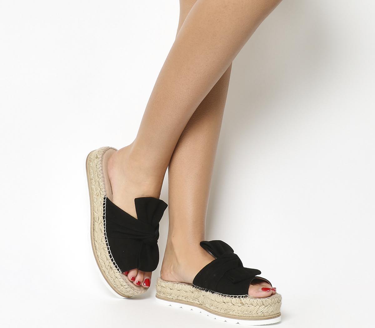 Samanta Bow Flatform Sandals