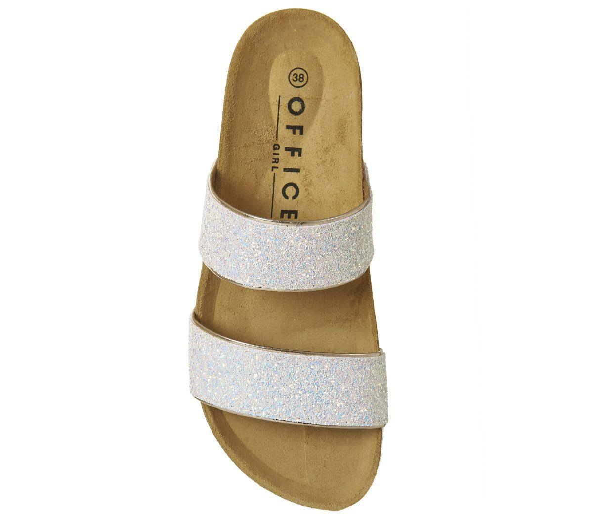 66d2cd276498 Office Magnetic 2 Footbed Sliders Pink Glitter - Sandals