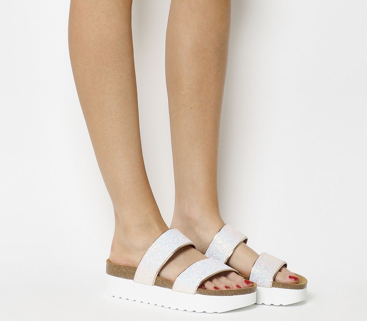 0b741b1547d0 Office Magnetic 2 Footbed Sliders Pink Glitter - Sandals