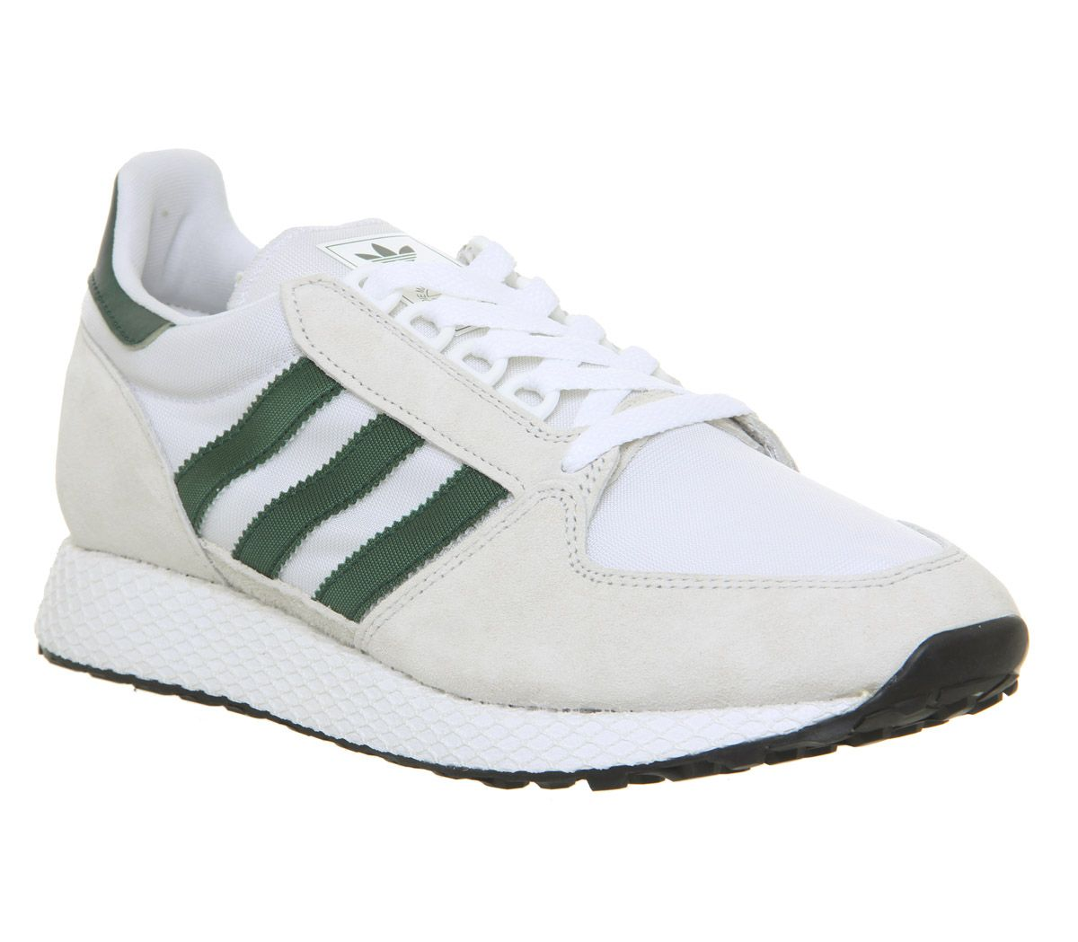 5e019953266 adidas Forest Grove Trainers Crystal White Collegiate Green Core ...