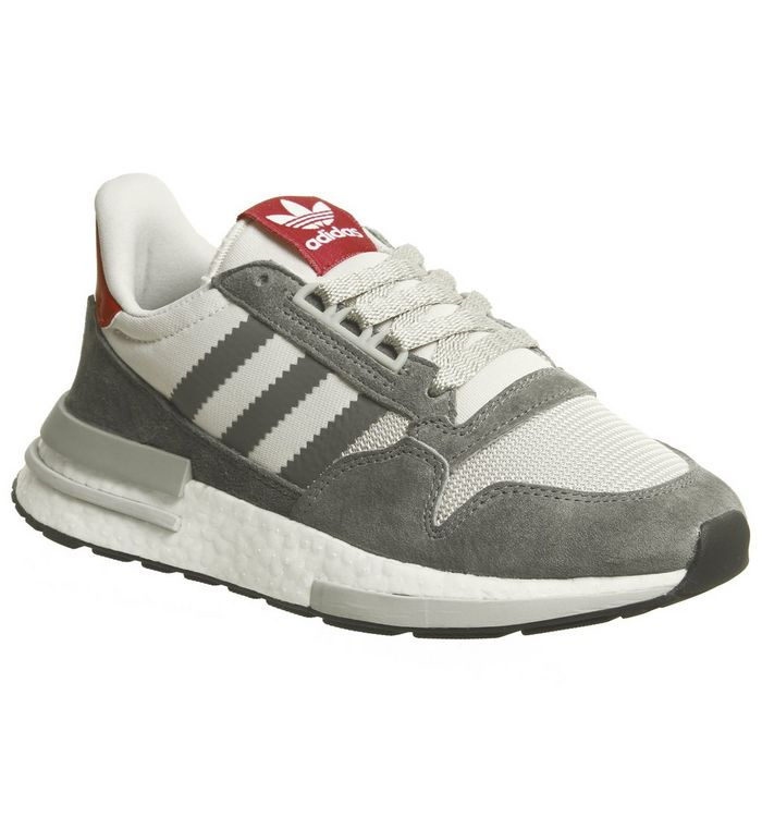 d2f0545d0 adidas Zx500 Rm Trainers Grey Four White Scarlet - Hers trainers
