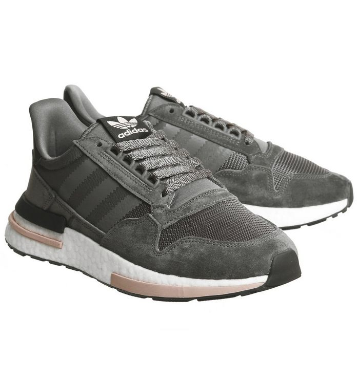 45a75b0b9bca6 adidas Zx500 Rm Trainers Grey Five White Clear Orange - Hers trainers