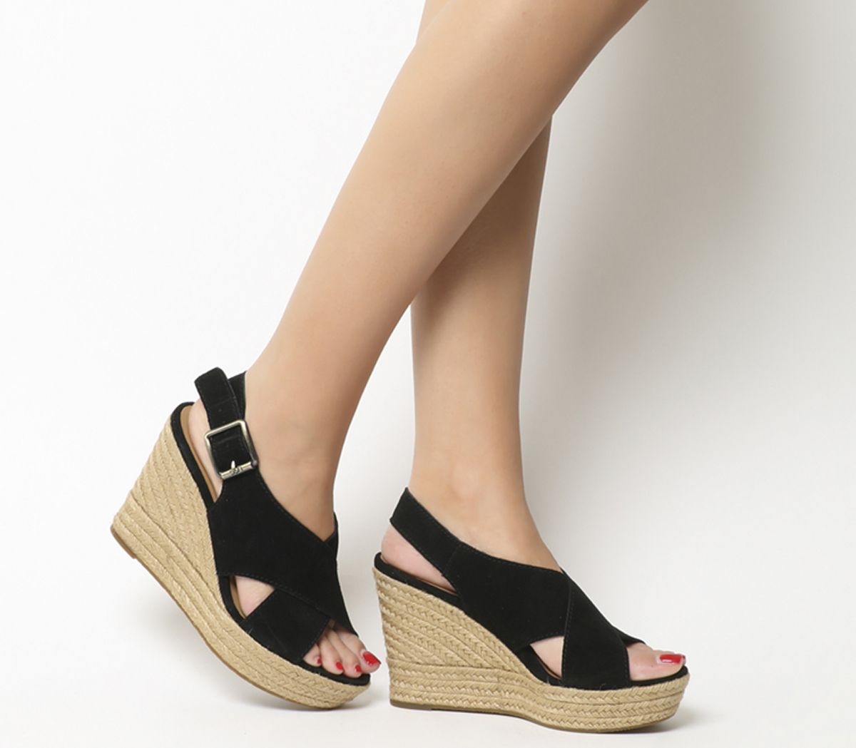 fe5987c89f UGG Harlow Wedges Black - Sandals