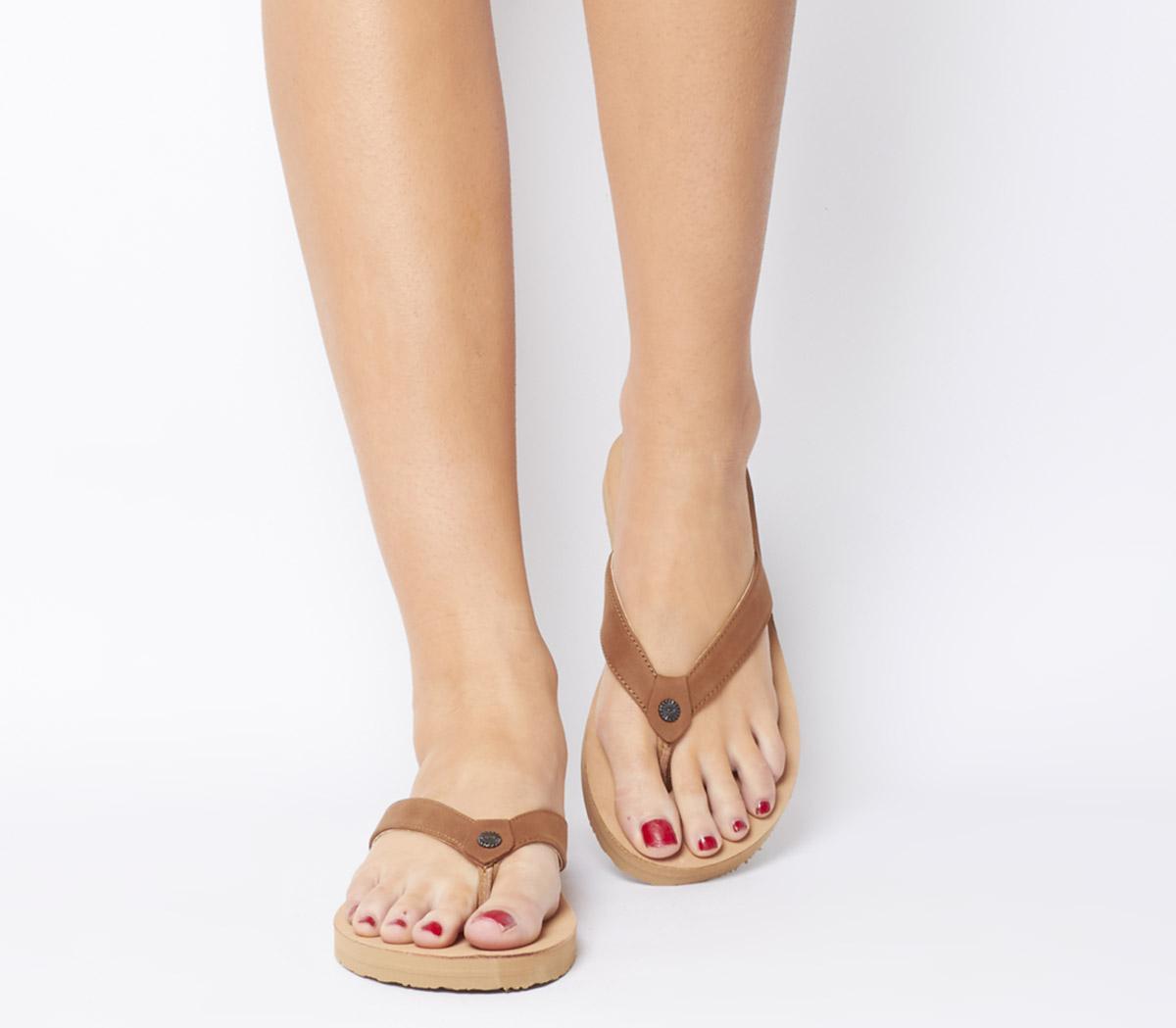Tawney Flip Flops