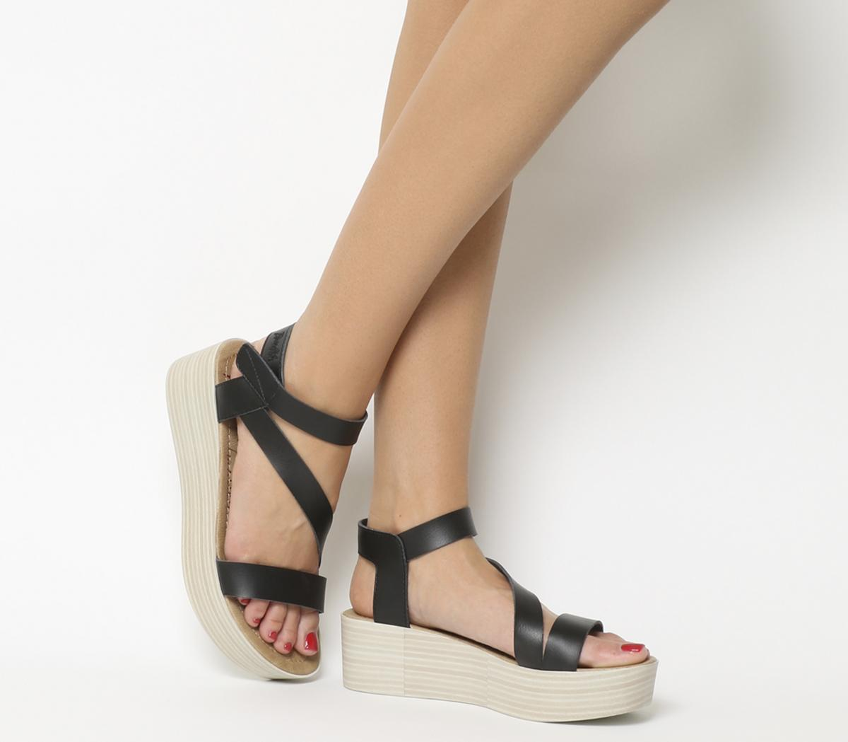 17e075e60b Blowfish Lover Flatform Sandals Onyx Dyecut - Mid Heels