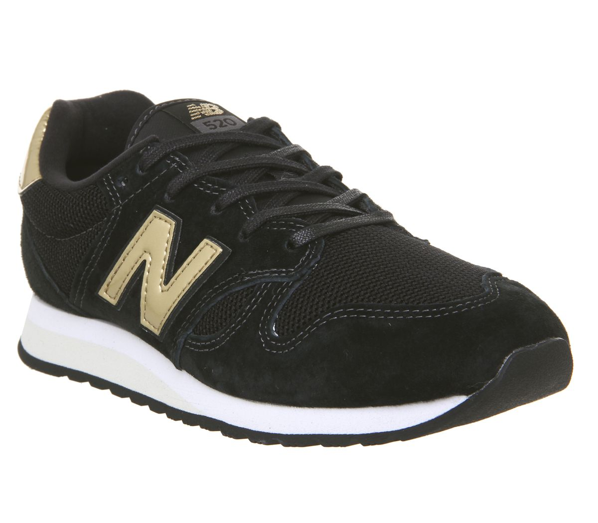 meilleures baskets 7eca9 74976 New Balance 520 Trainers Black Classic Gold - Hers trainers