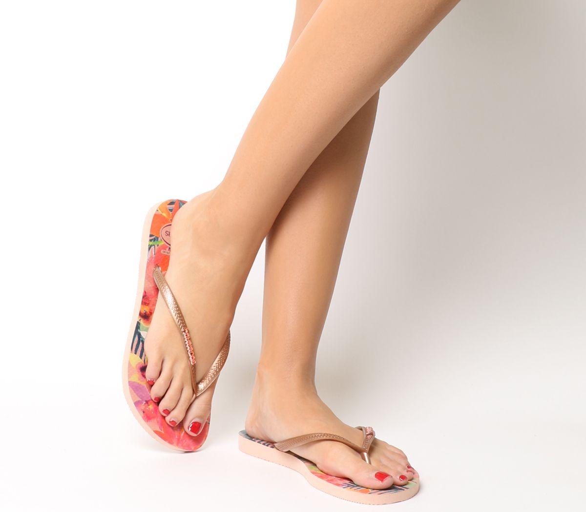 e0c8e0279 Havaianas Slim Tropical Flip Flops Ballet Rose - Sandals