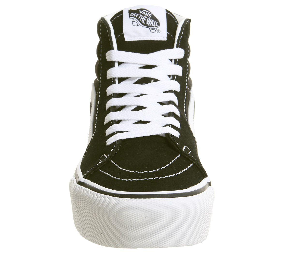 0383b85c54 Vans Sk8 Hi Platform 2.0 Trainers Black True White - Hers trainers