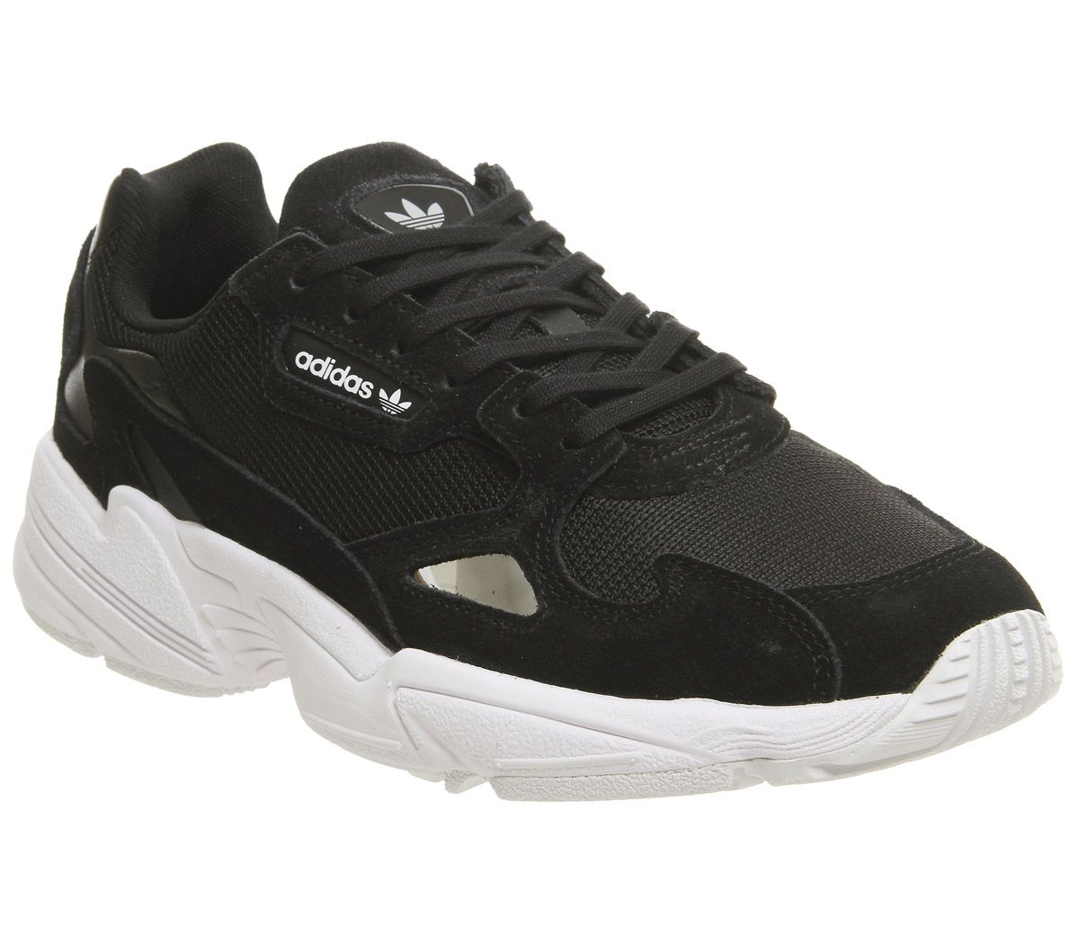 quality design e96fb 5298a adidas Falcon Trainers Core Black White - Hers trainers