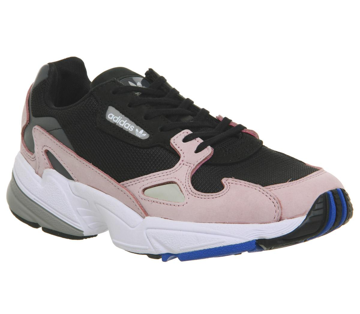 adidas Women's Falcon W, CORE BlackCORE BlackLT Pink, 7 US