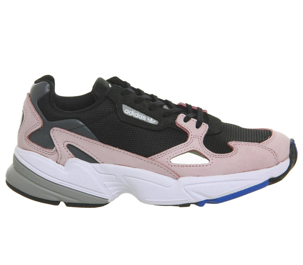 adidas Falcon Trainers Core Black Light Pink Hers trainers