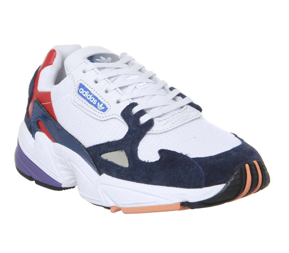 buy online e0f1a 495f7 adidas Falcon Trainers Crystal White Collegiate Navy Red - Hers trainers