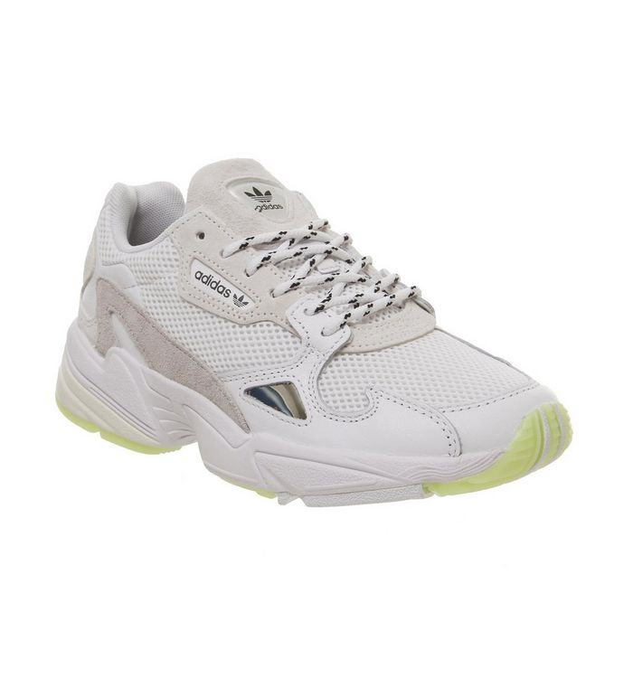 buy online a627e 8fc27 adidas Falcon Trainers Crystal White Collegiate Navy Red - Hers trainers